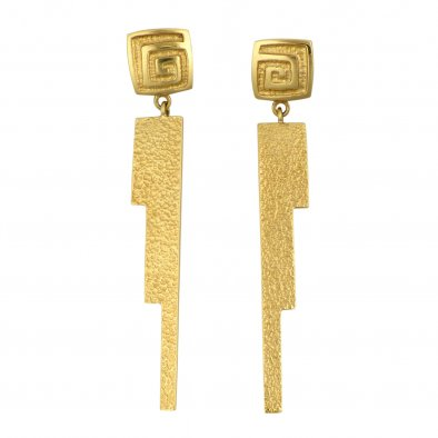 Larry Golsh, Pala Mission Cast Gold Earrings