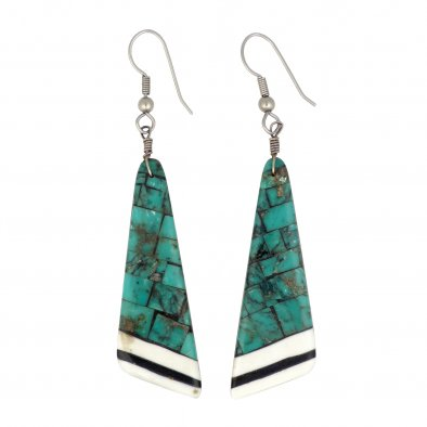 Pueblo Inlay Earrings by Angie Reano Owen